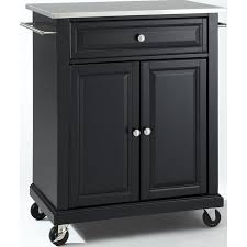 crosley furniture kitchen cart crosley furniture kf30022ebk stainless steel top portable kitchen