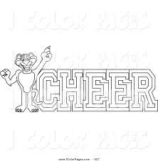 royalty free jaguar mascot stock coloring page designs