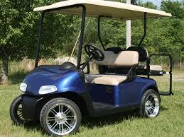 golf cart e z go rxv royal blue custom golf cart metrolina carts custom