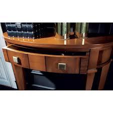 tavolo ovale legno lavorazione artigianale di mobili console con specchiera tavolo
