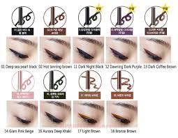 light brown gel eyeliner beauty box korea the saem eco soul waterproof gel eyeliner 0 5g