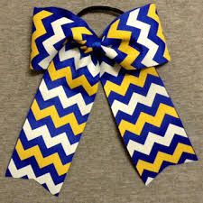 white and blue bows shop gold cheer bow on wanelo
