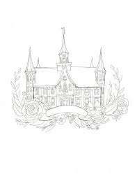 temple coloring page provo city center temple coloring page diy painting