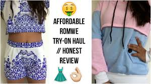 is romwe a scam try on haul honest review youtube