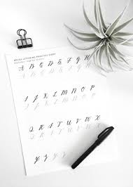 what to write on a paper fortune teller drawntodiy craftgawker free brush lettering practice sheet