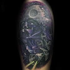 60 death star tattoo designs for men star wars ideas