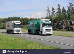 2016 volvo big rig paimio finland june 3 2016 volvo fh okline semi trailer flat