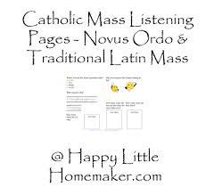 catholic mass worksheets novus ordo u0026 traditional latin mass