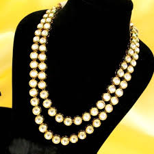 double necklace set images Buy kundan meenakari double line necklace set online JPG