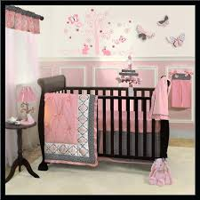 Pink And Black Crib Bedding Sets Black And Pink Nursery Black Nurseries Pink Black Crib Bedding
