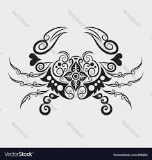 crab ornament royalty free vector image vectorstock