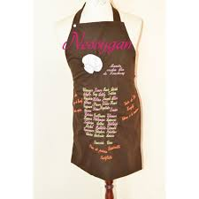 tablier cuisine personnalis pas cher tablier de cuisine personnalisé brodé par des prénoms et motif
