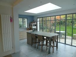 extension cuisine lparchitectes com cuisine carreaux de ciment baie vitrée ilot