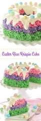 Easter Decorated Bundt Cake by Easter Rice Krispie Cake U2013 The Novice Chef