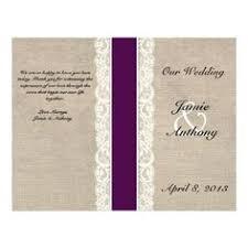 burlap wedding programs lace burlap wedding program sided by digibuddhapaperie