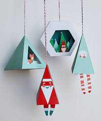 Homemade Christmas Decorations With Paper Best 25 Diy Christmas Paper Decorations Ideas On Pinterest