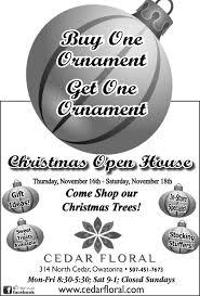 Christmas Open House Ideas by Open House Cedar Floral Owatonna Mn