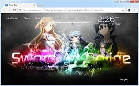 theme google chrome sword art online sword art online full hd wallpapers new tab most beautiful and