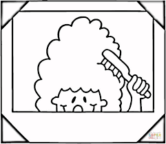 lizzie mcguire with hair brush coloring page free lizzie mcguire