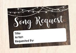 wedding song request cards song request card rustic wedding song request cards