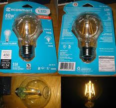 lighting gallery net led ecosmart led filament bulb