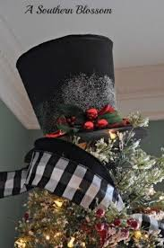 snowman tree black tree toppers foter