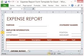 Excel Expense Report Template Free Expense Report Form Template For Excel