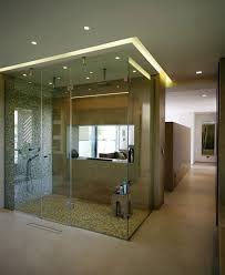 apartments beautiful open shower bathroom design with cabinet