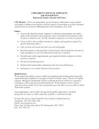 Sample Resume For Nanny Position by What Is A Dental Assistant Job Description Khafre Sample Dental
