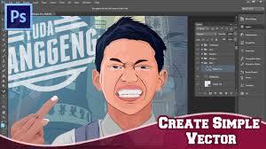 tutorial cara vector photoshop photoshop speed art tutorial create simple vector youtube