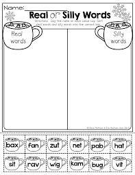 real or silly words cut and paste great for practicing decoding