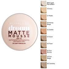 maybelline dream matte mousse classic ivory light 2 maybelline dream matte mousse perfection foundation spf15 18ml