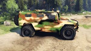 gaz tigr gaz 2975 tiger camo for spin tires