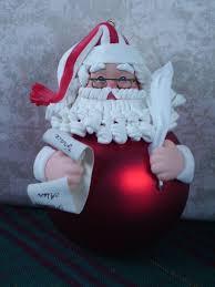 clay glass ball santa making a list christmas ornament wonderful