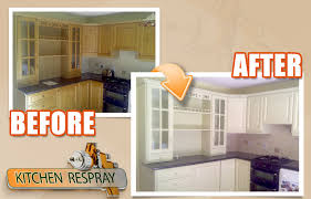Spraying Kitchen Cabinets See Some Before And After Kitchen Resprays Kitchen Respray