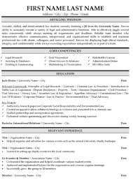 Sample Law Student Resume by Example Law Graduate Resume Templates