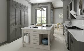 madison contemporary shaker kitchen painted in lava and light grey