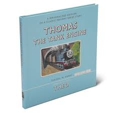 the personalized thomas the tank book hammacher schlemmer