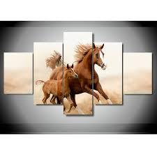 arabian horses hq 5 piece art canvas print arts n games