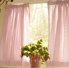 Pink Gingham Curtains Light Pink Gingham Cafe Curtains