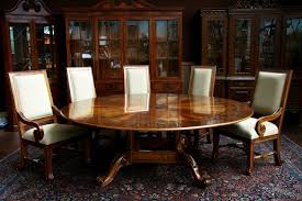 Dining Room Tables For 12 by Round Dining Room Tables With Leaf Brownstone 56 Inside Design For