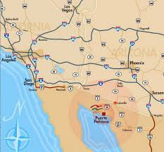San Felipe Mexico Map by Puerto Penasco Aka Rocky Point Beach