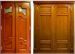 Wooden Exterior French Doors by Interior Wood Doors With A Sleek Bamboo Panel Home Design Gallery