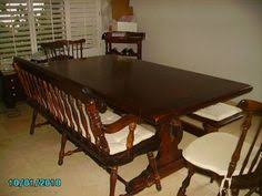 Ethan Allen Old Tavern Style Dining Room Trestle Table - Ethan allen dining room table