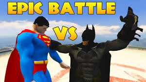 batman superman superheroes epic battle cartoon kids 3d