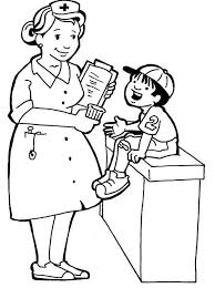 printable nurses and little kids coloring pages holidays clip