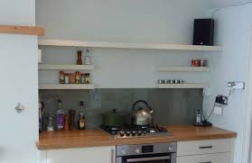Stainless Steel Kitchen Backsplash With Shelf Wall Mounted Shelves Stainless Steel Single Handle Faucet Metal