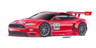kenny brown mustang 20 x 40 print 2015 kenny brown ford mustang gt3r concept