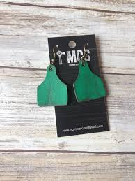 cow tag earrings cow tag earrings leather cattle tags momma s country soul