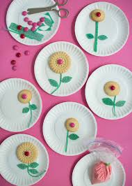 fun cookie flower craft crafts for kids fun crafts and spring